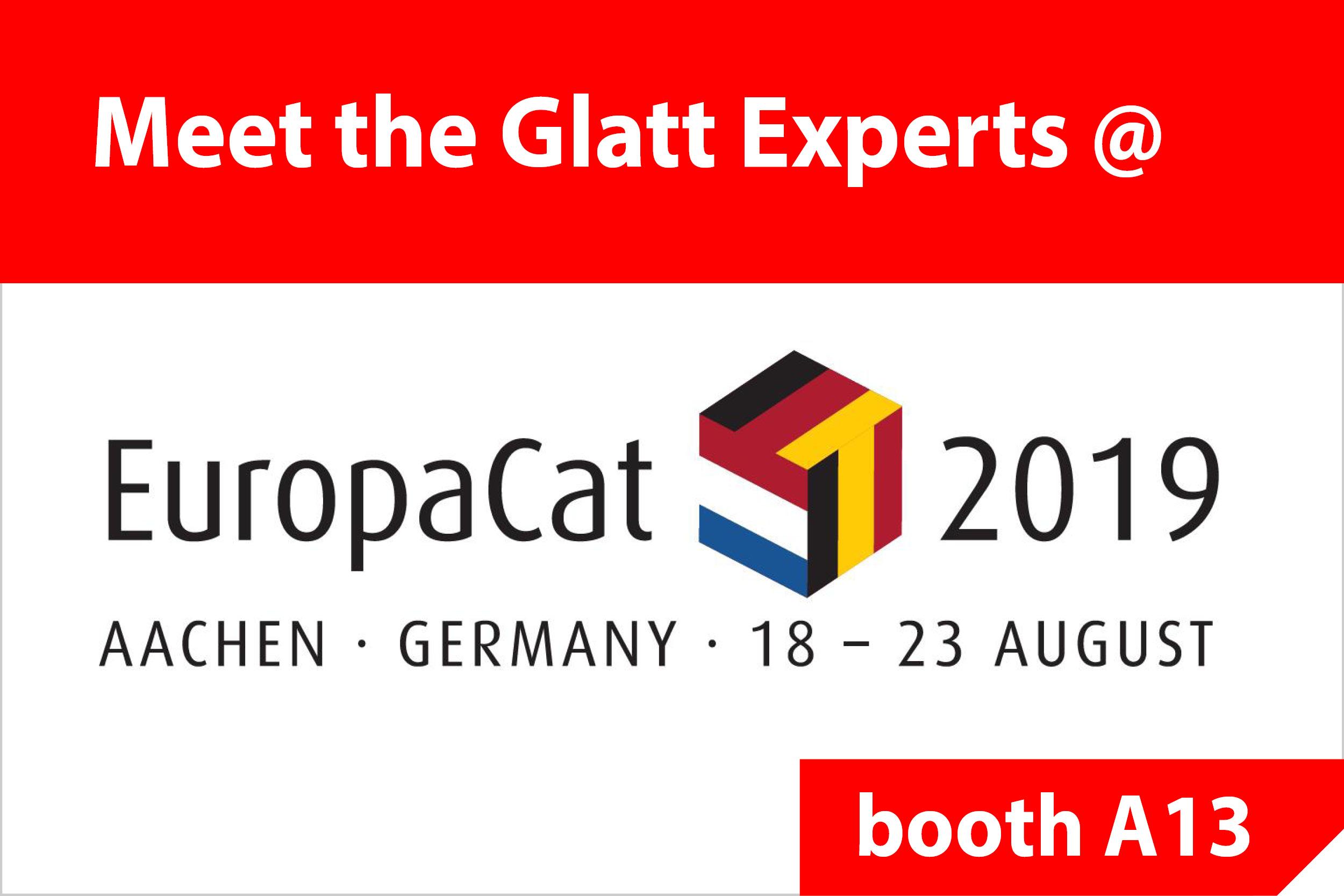 Glatt@EuropaCat2019, booth A13