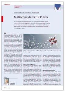 Maßschneiderei für Pulver – Partikelsynthese im pulsierenden Heißgasstrom
