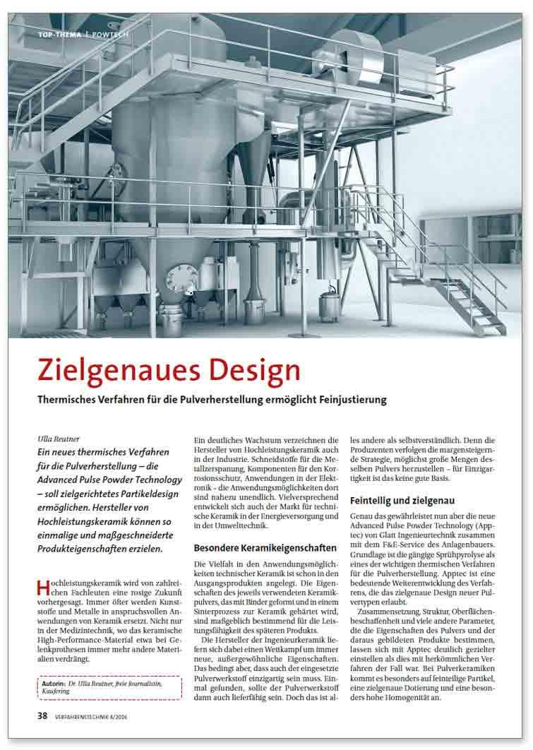 Zielgenaues Design – Thermisches Verfahren für die Pulverherstellung ermöglicht Feinjustierung