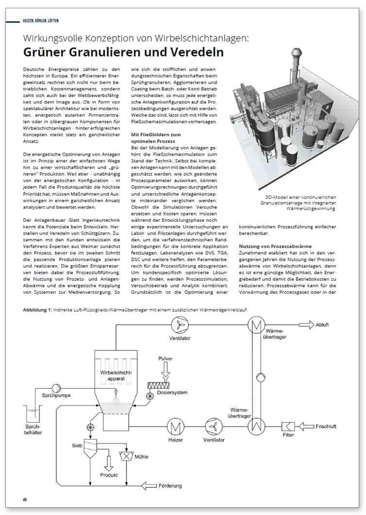 Grüner Granulieren und Veredeln – Wirkungsvolle Konzeption von Wirbelschichtanlagen
