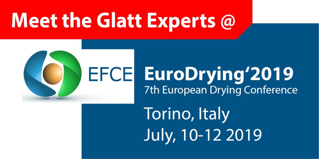 Meet the Glatt Experts @ EuroDrying2019 in Turin, Italien