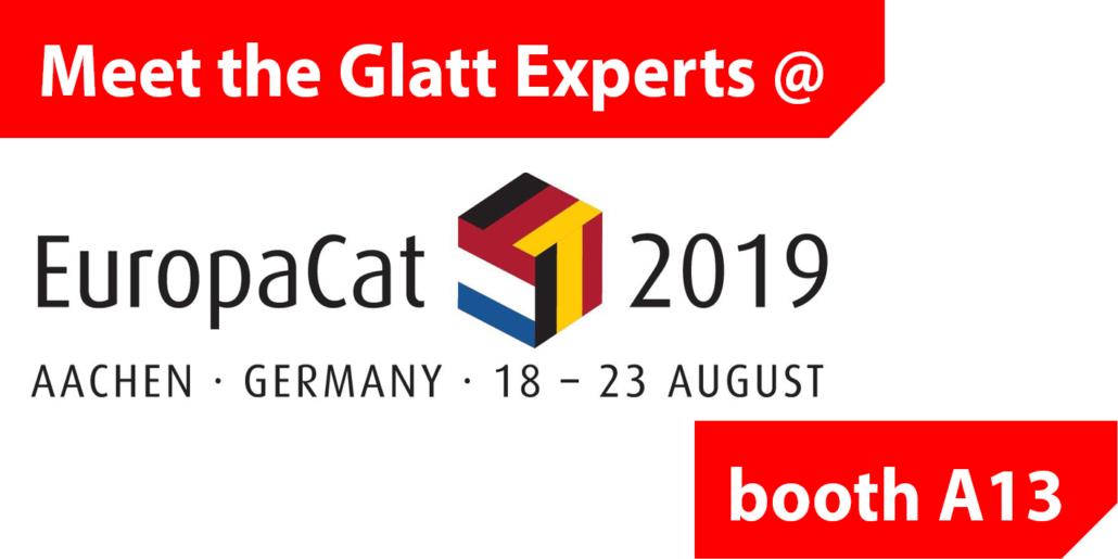 Glatt@EuropaCat2019 am Stand A13 in Aachen