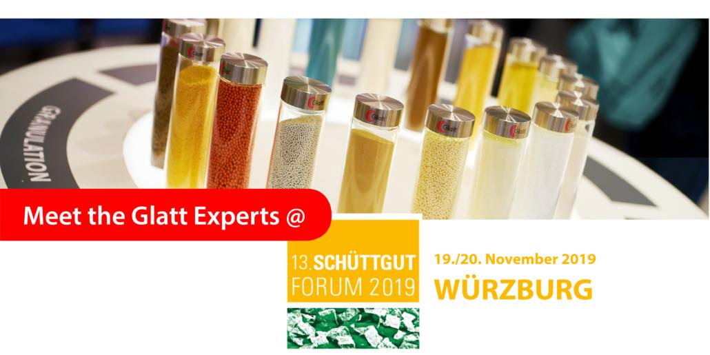 Meet the Glatt Experts @ Schüttgutforum 2019 in Würzburg