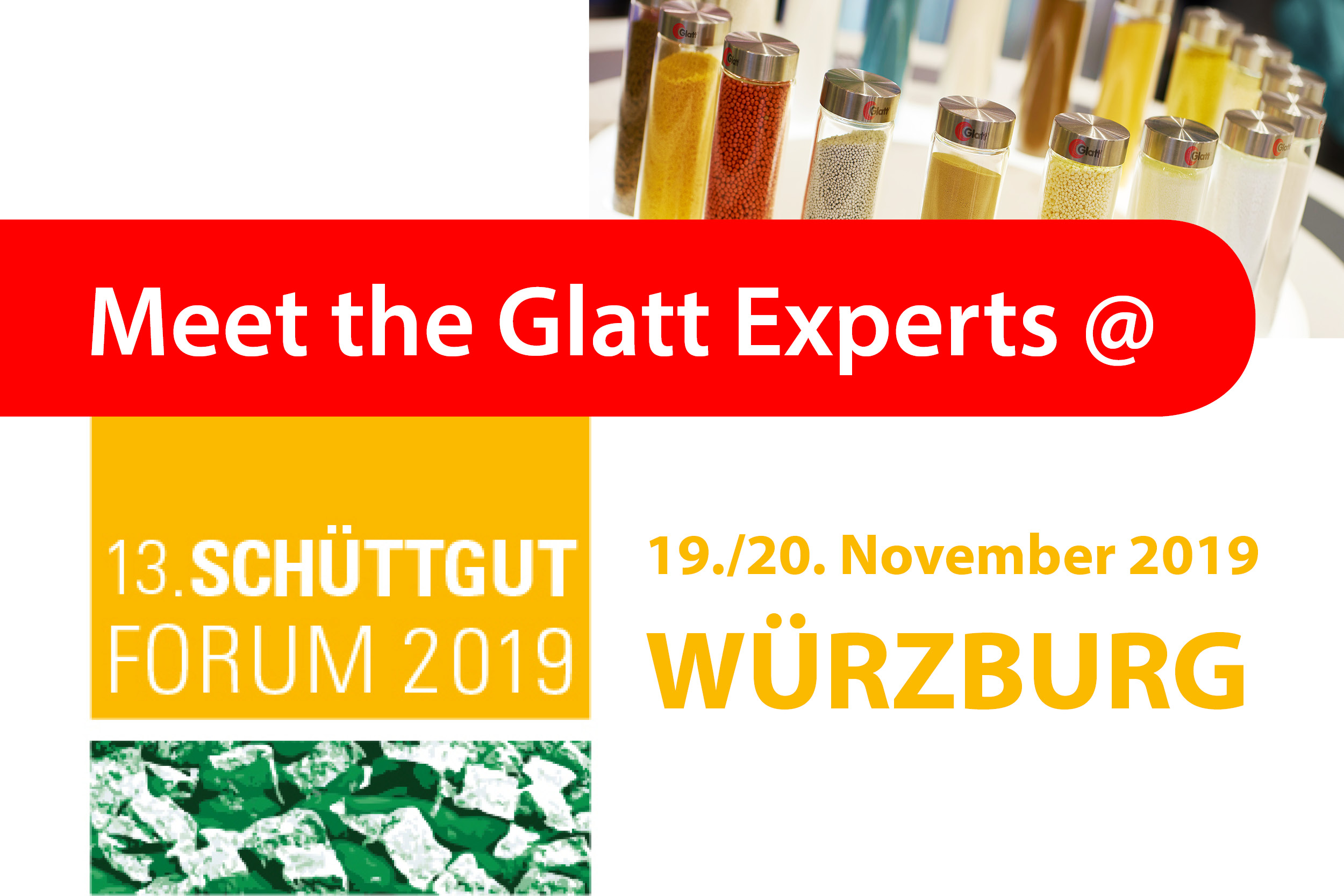 Meet the Glatt Experts @ Schüttgutforum 2019 in Würzburg