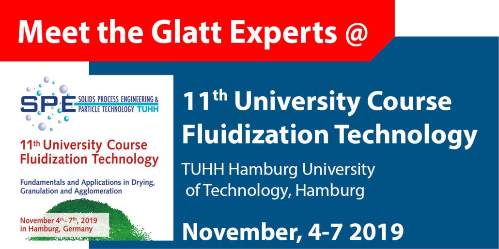 Meet the Glatt Experts @ 11th University Course Fluidization Technology in Hamburg