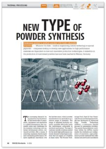 published technical paper: New type of powder synthesis