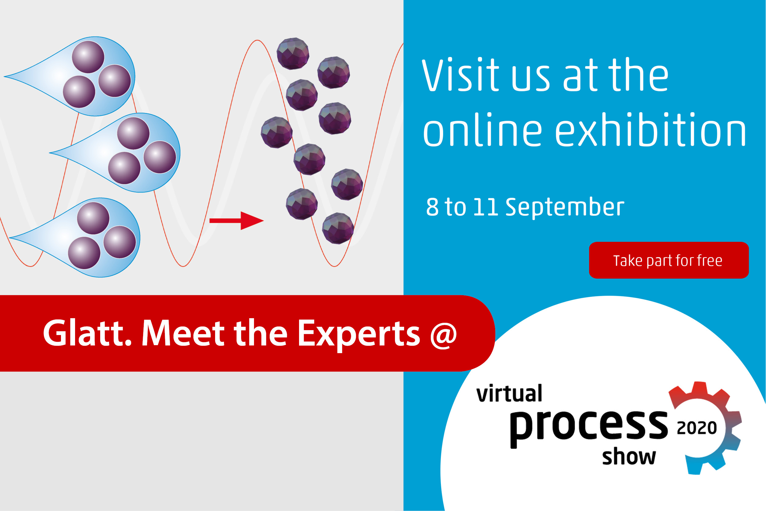 Glatt. Meet the Experts @ Virtual Process Show, 8-11 Sep 2020