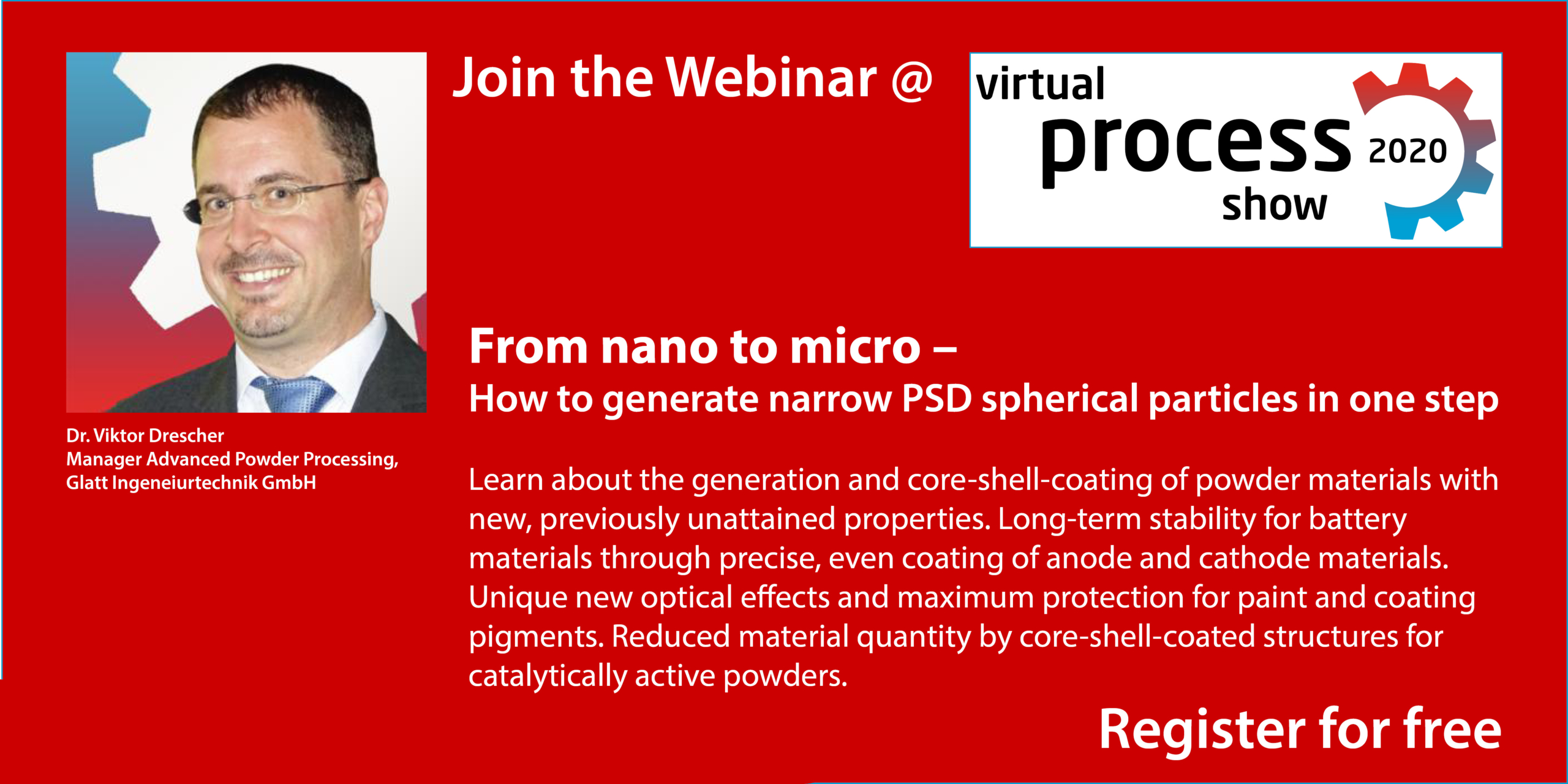 Join the Webinar: From nano to micro