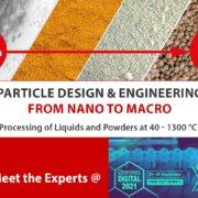 Treffen Sie die Experten von Glatt auf der Chemspec DIGITAL 2021 am 29. und 30. September 2021
